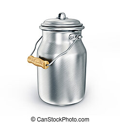 milk can isolated on a white background
