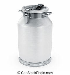 Milk can. Isolated on white background