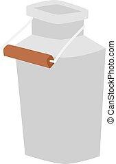 Milk can vector illustration