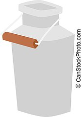 Milk can vector illustration