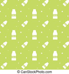 Milk Carton Box Silhouette Seamless Pattern