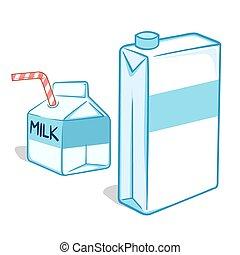 Milk Carton - Vector illustration of milk carton