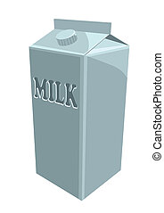 milk carton isolated on a white background