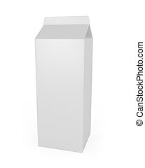Milk Carton isolated on white
