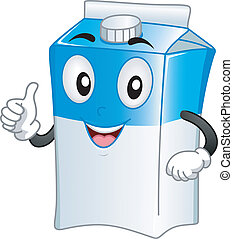 Milk Carton Mascot - Mascot Illustration Featuring a Milk...