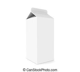 Milk Carton  - Milk Carton, isolated on white.