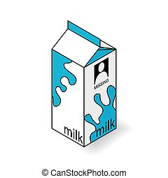 Milk Carton On A White Background Isometric Vector