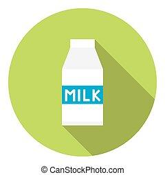 Milk Carton Package Flat Icon