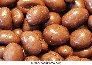 Milk chocolate almonds - Milk chocolate covered almonds,...