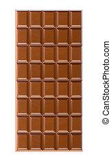 milk chocolate bar close-up