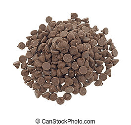 Milk chocolate chips - A portion of small milk chocolate...
