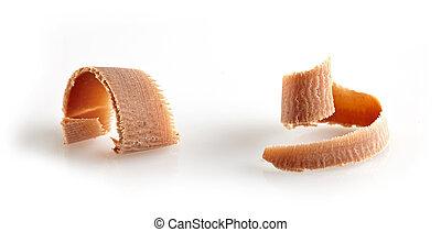 milk chocolate curl