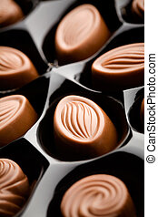 Milk chocolate - Delicious milk chocolate with very shallow...