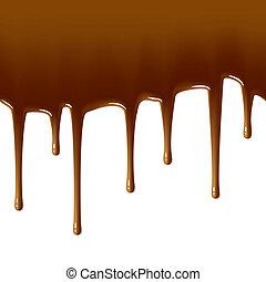 Milk chocolate drips. Seamless.