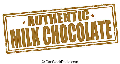 Milk chocolate - Stamp with text milk chocolate inside,...