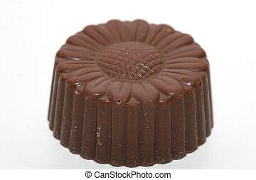 milk-chocolate - macro of a Belgian chocolate shot from the...