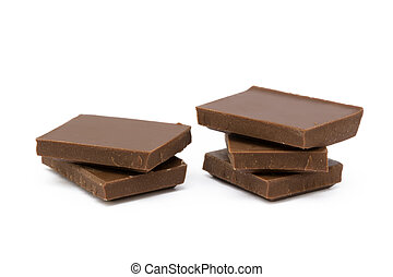 Milk chocolate pieces