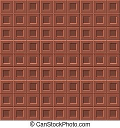 Milk chocolate seamless pattern - Seamless pattern with milk...