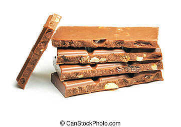 Milk chocolate - The milk chocolate with raisin and nuts is...