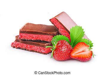 milk chocolate with strawberry filling