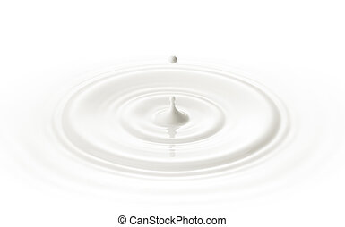 milk drop - milk or white liquid drop created ripple