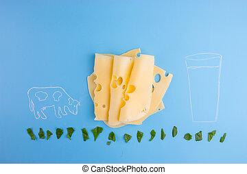 milk farm concept