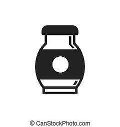 Milk Farm icon black color