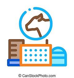 milk farm icon vector. milk farm sign. color symbol illustration