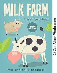 Milk Farm Poster