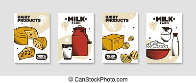 Milk Farm Poster Set