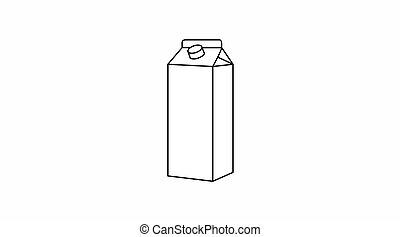 Milk flat icon