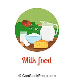 Milk food circle icon