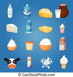 Milk Food Icon Set