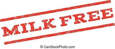 Milk Free Watermark Stamp
