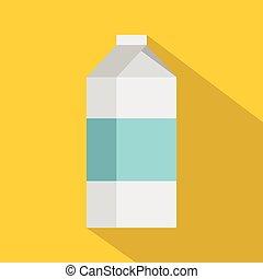 Milk icon, flat style