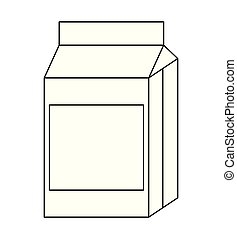 milk in box isolated icon