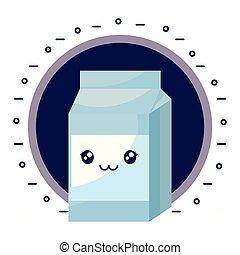 milk in box kawaii character