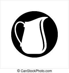 Milk Jug Icon, Milk Container Vector Art Illustration