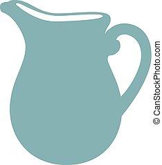 Milk jug vector illustration. - Milk jug flat icon. Milk...
