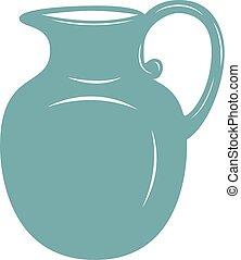 Milk jug vector illustration. - Milk jug icon. Milk pitcher,...