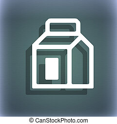 Milk, Juice, Beverages, Carton Package icon symbol on the...