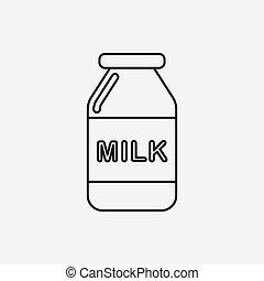 milk line icon