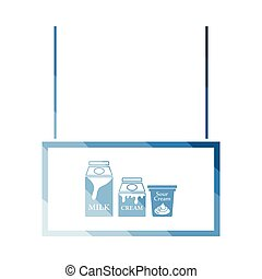 Milk market department icon