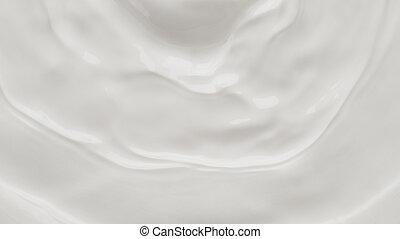 Milk or dairy cream waving surface