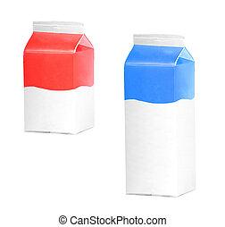 milk or juice carton boxes