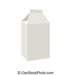 Milk or juice carton package cartoon icon