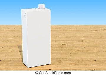 Milk or juice pack, blank carton packaging container box...