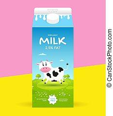 Milk package template