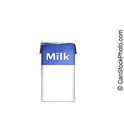 milk packet isolated over white background