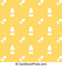 Milk Paper Box Silhouette Seamless Pattern